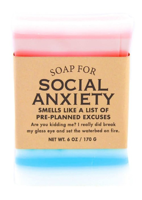 "Whiskey River Soap Co. ""Social Anxiety: Smells Like a List of Pre-Planned Excuses"" Handmade Soap"