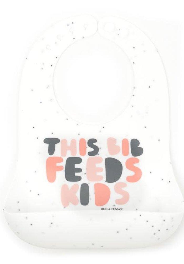 """""""This Bib Feeds Kids"""" Pink Wonder Bib"""