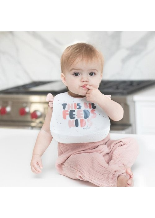 "Bella Tunno ""This Bib Feeds Kids"" Pink Wonder Bib"