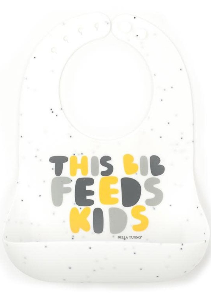 """This Bib Feeds Kids"" Yellow Wonder Bib"
