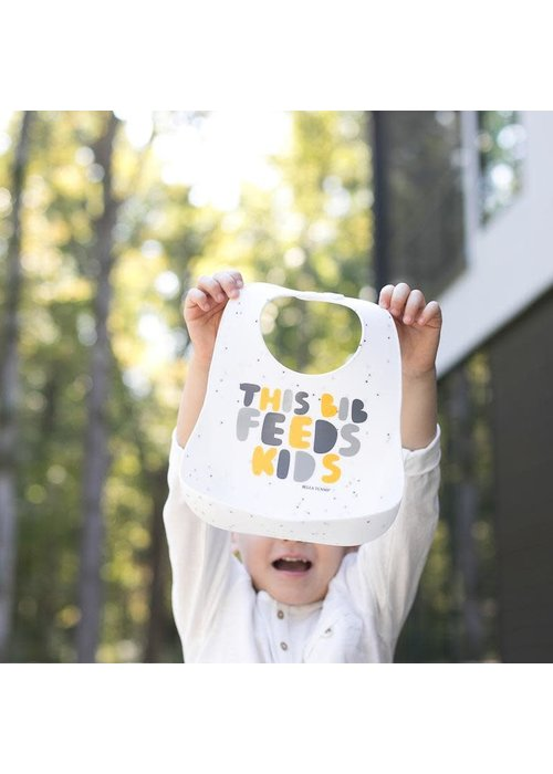"Bella Tunno ""This Bib Feeds Kids"" Yellow Wonder Bib"