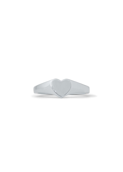 Pura Vida Heart Signet Ring