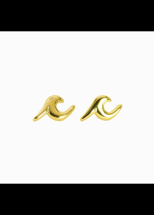 Pura Vida Wave Stud Earrings