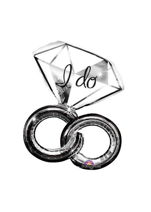 """""""I Do"""" Wedding Rings 30"""" Balloon"""