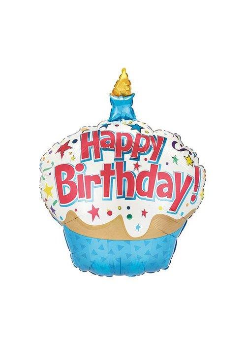 """Happy Birthday"" Cupcake 36"" Balloon"