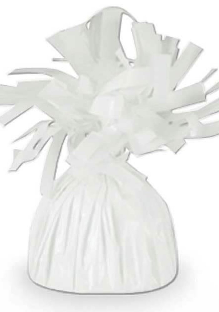 White Foil Reusable Balloon Weight