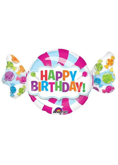 """Happy Birthday"" Candy 40"" Foil Balloon"