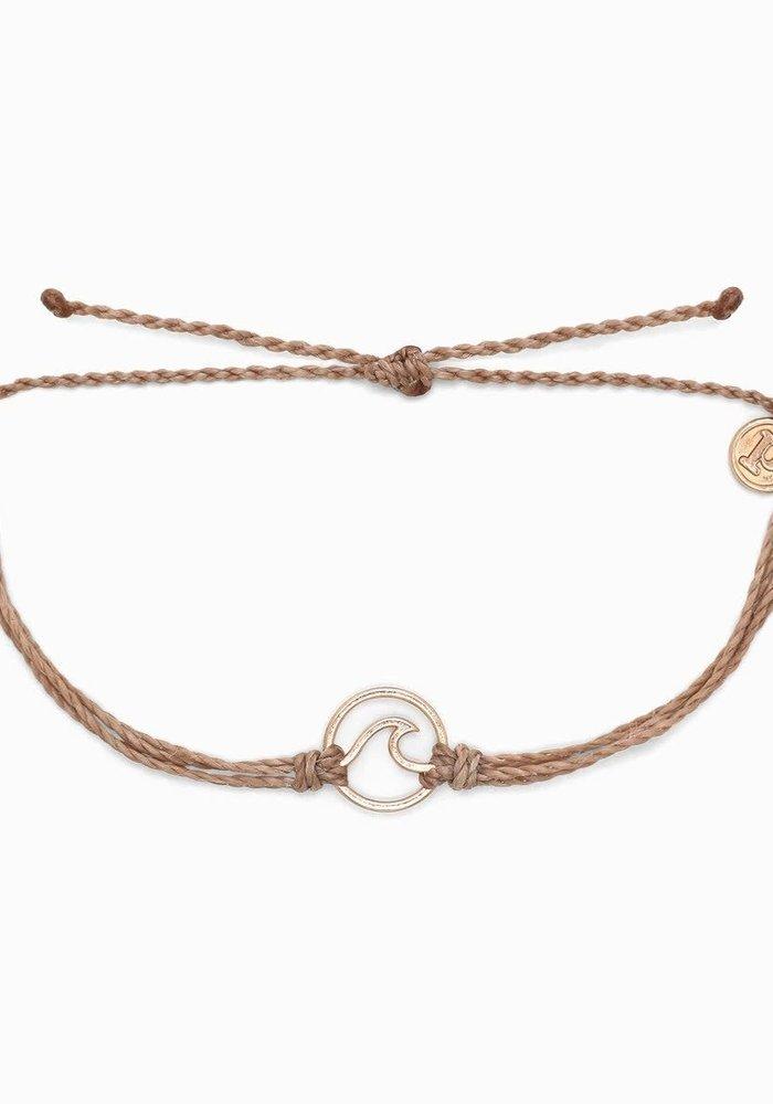 Rose Gold Wave Bracelet Sandalwood