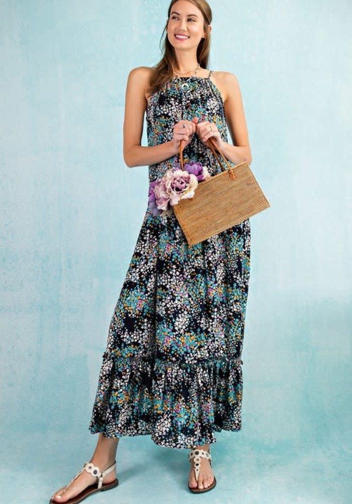 Summer Floral Flowy Maxie Dress