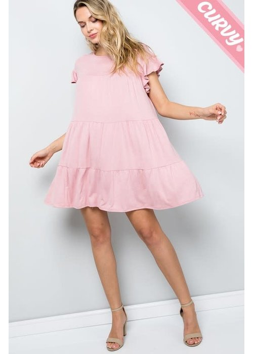 Tiered Soft Jersey Dress (Plus)
