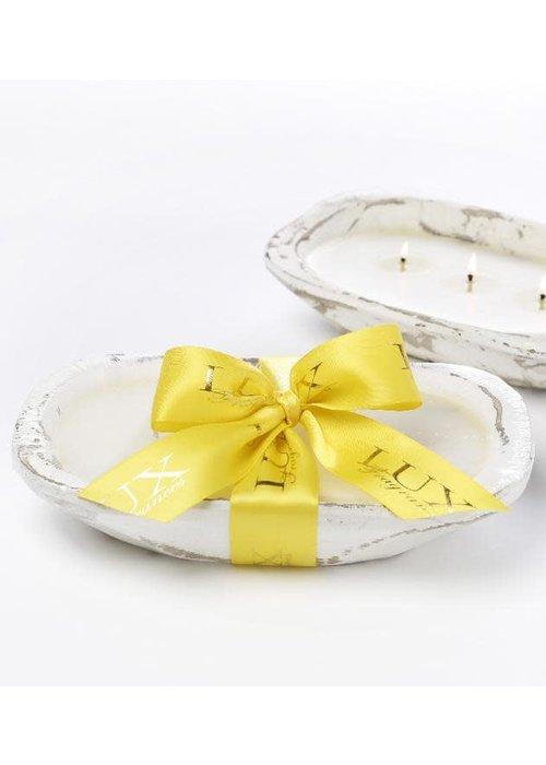 Lux Fragrances Lemon Drop 3-Wick Dough Bowl Candle