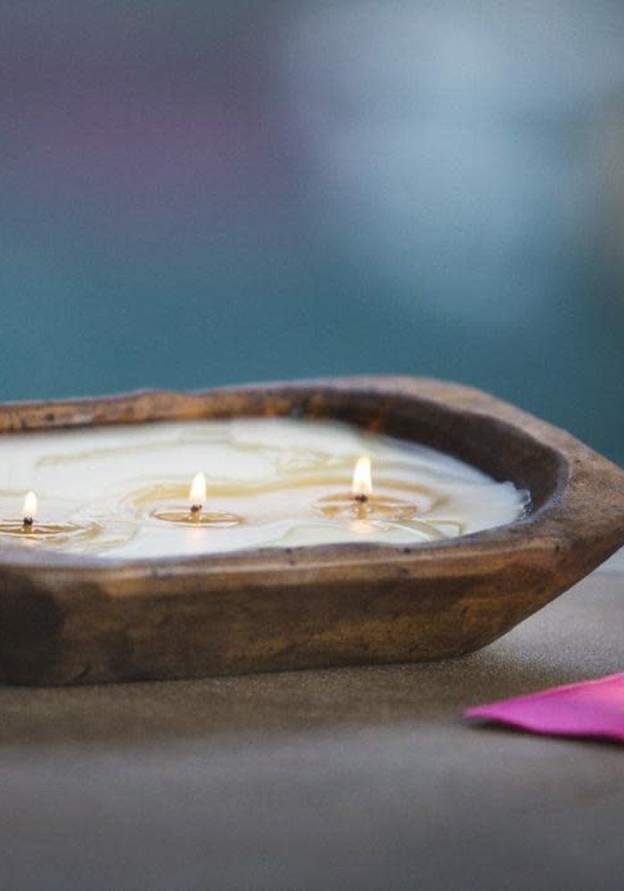 Citronella Pineapple 3-Wick Dough Bowl Candle