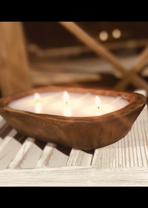 Lux Fragrances Italian Linen 3-Wick Dough Bowl Candle