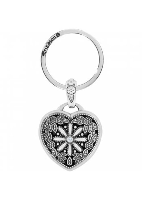 Brighton Floral Heart Locket Key Fob