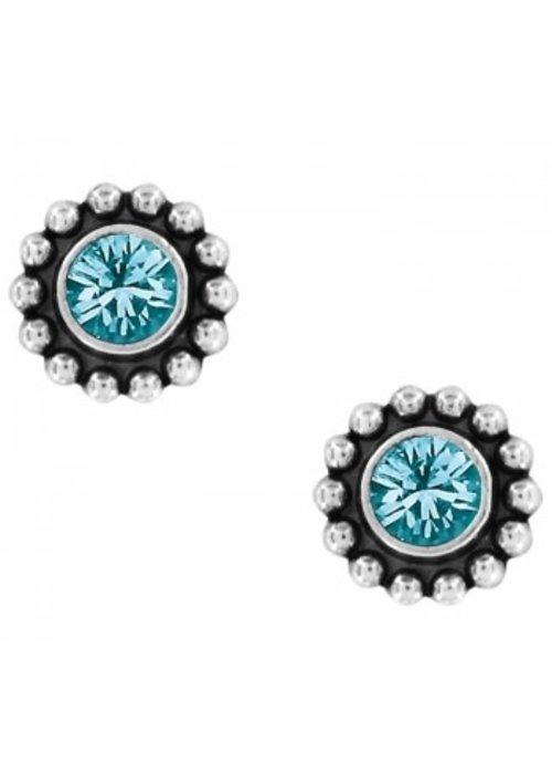 Brighton Blue Zircon Twinkle Mini Post Earrings