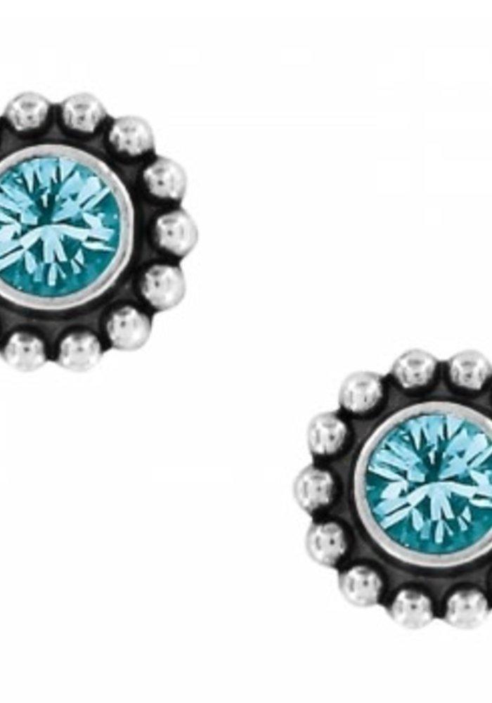 Blue Zircon Twinkle Mini Post Earrings
