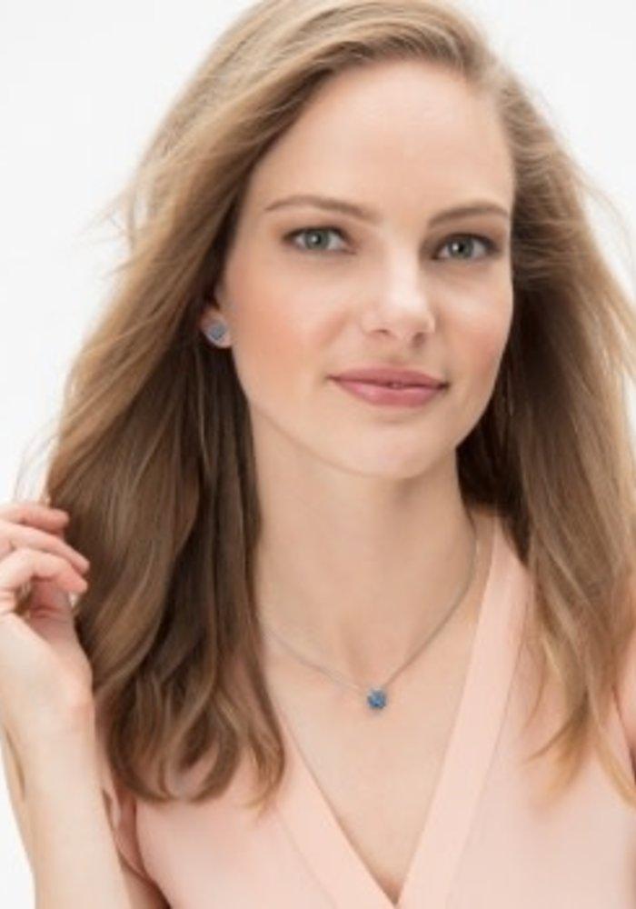 Sapphire Twinkle Mini Post Earrings