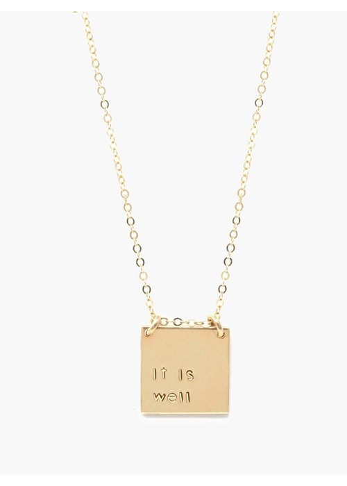 "ABLE ""it is well"" Necklace"