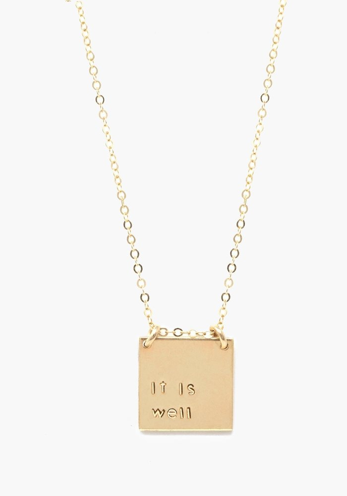 """""""it is well"""" Necklace"""