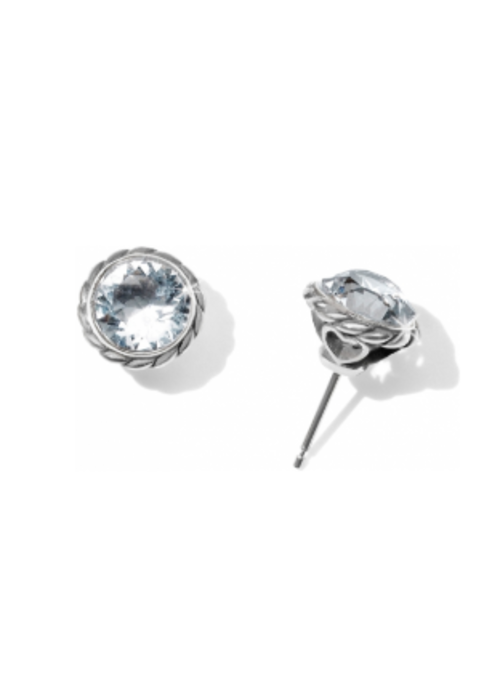 Brighton Crystal Iris Stud Earrings