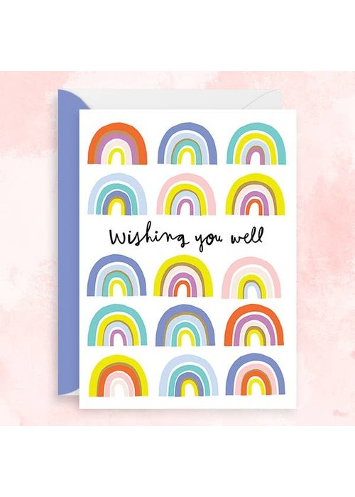 """""""Wishing You Well"""" Gold Foil Rainbow Card"""