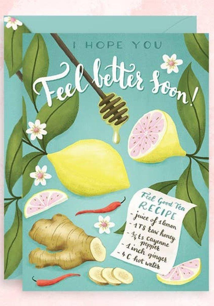"""""""Feel Better Soon"""" Remedy Tea Recipe Card"""