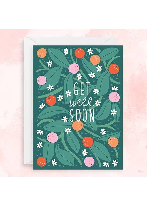 """Get Well Soon/Speedy Recovery"" Berries & Leaves Card"