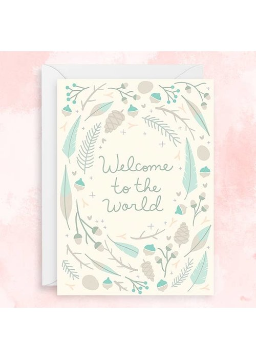 """""""Welcome to the Word"""" Silver Foil Card"""