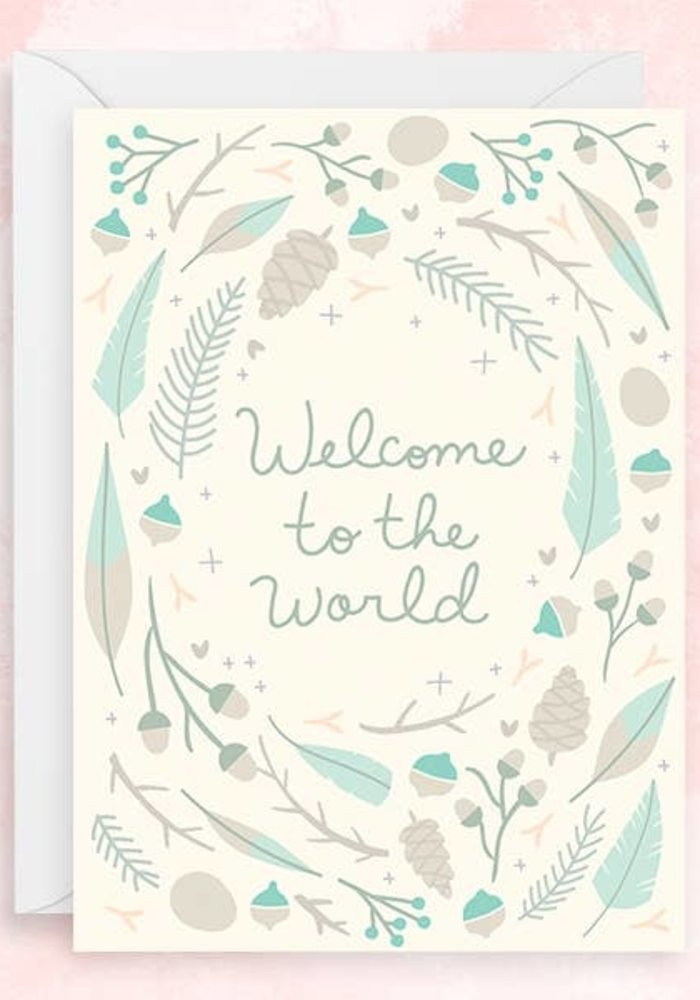 """Welcome to the Word"" Silver Foil Card"