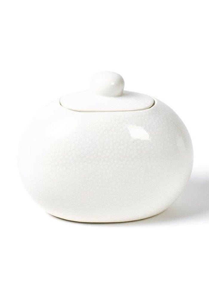 White Small Dot Mini Cookie Jar