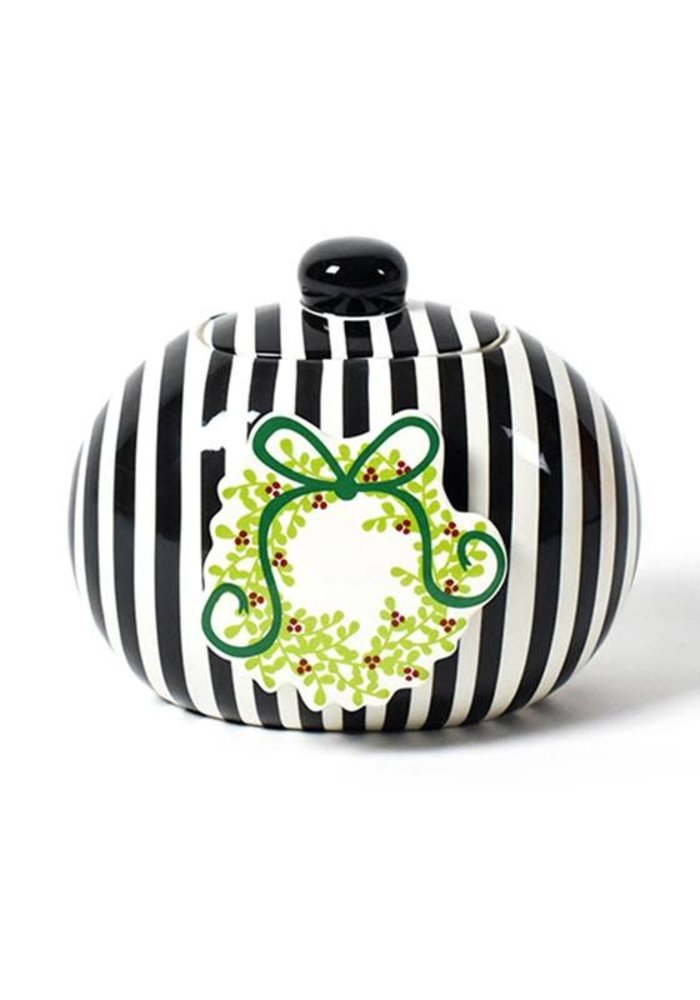 Black Stripe Mini Cookie Jar