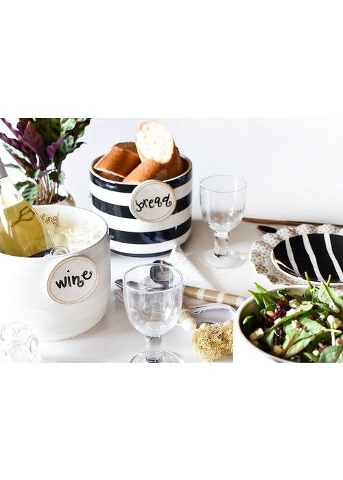 Happy Everything White Stripe Mini Bowl
