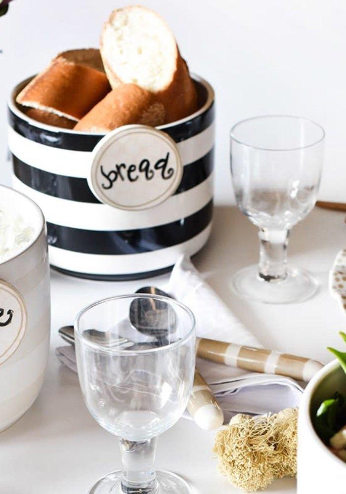 White Stripe Mini Bowl