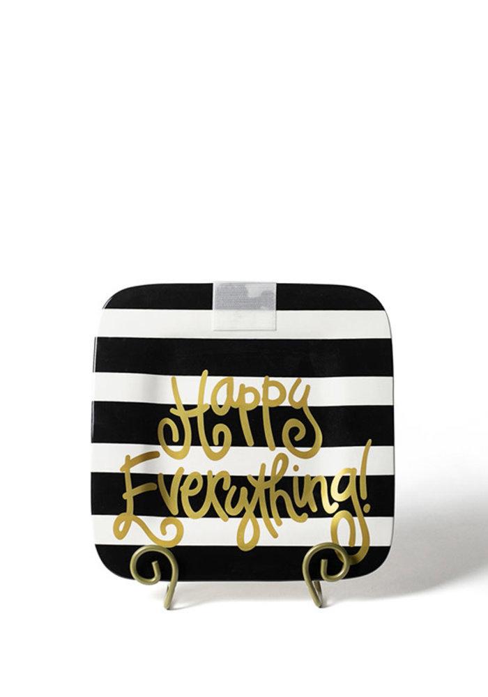 Black Stripe Happy Everything Square Mini Platter