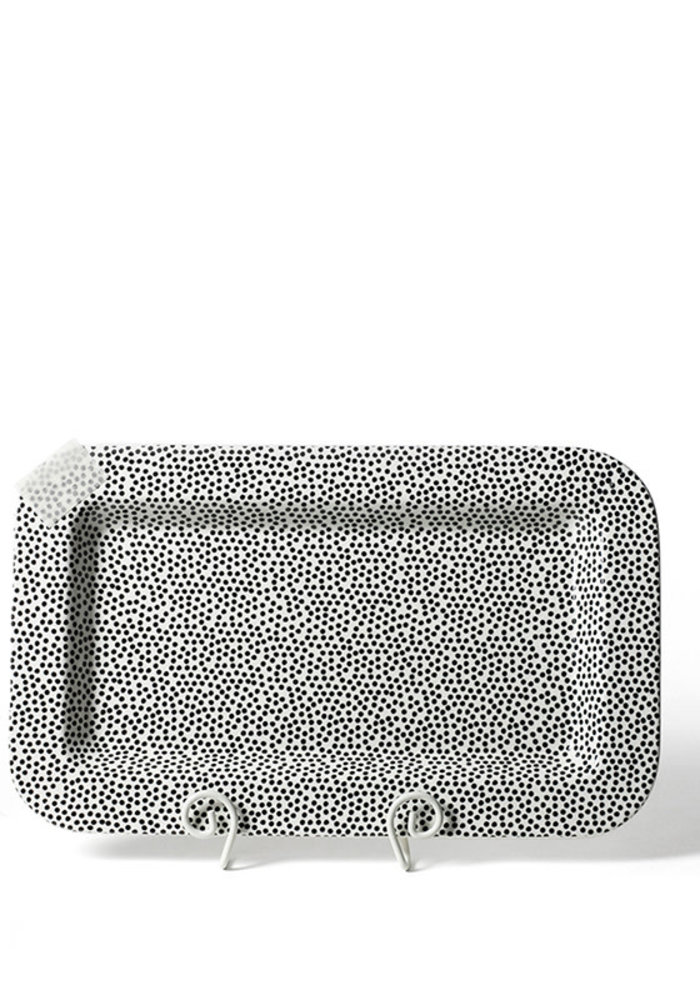 Black Small Dot Entertaining Mini Rectangle Platter