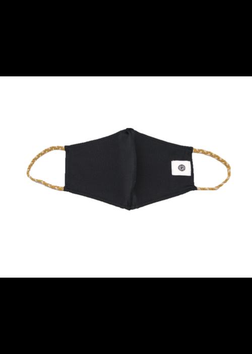 Black & Gold Braids Breathable Face Mask