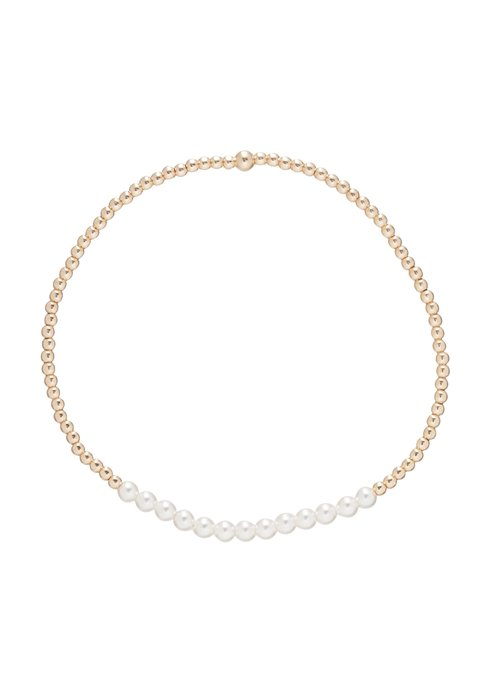 Enewton Pearl Gemstone Gold Bliss 2mm Bead Bracelet