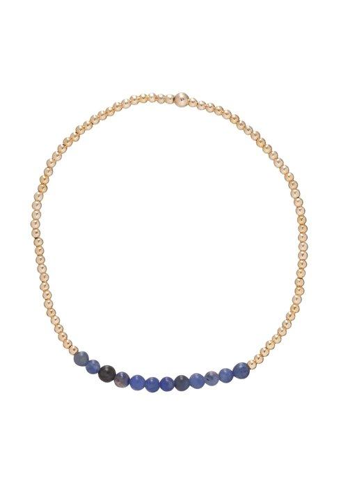 Enewton Sodalite Gemstone Gold Bliss 2mm Bead Bracelet