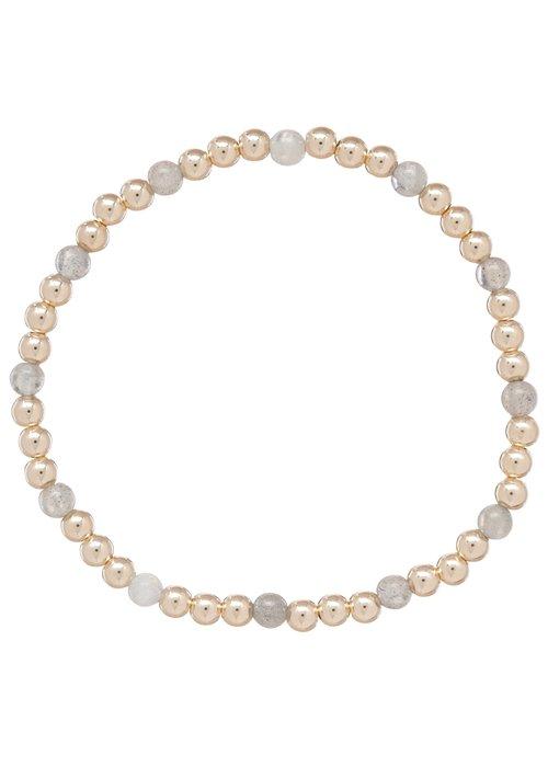 Enewton Labradorite Gold Sincerity Pattern 4mm Bead Bracelet