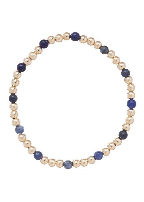 Enewton Sodalite Gold Sincerity Pattern 4mm Bead Bracelet
