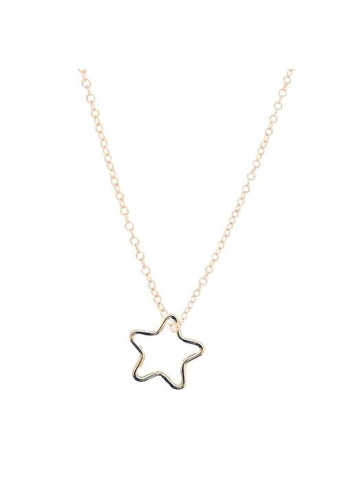 "Enewton 16"" Gold Star Charm Necklace"