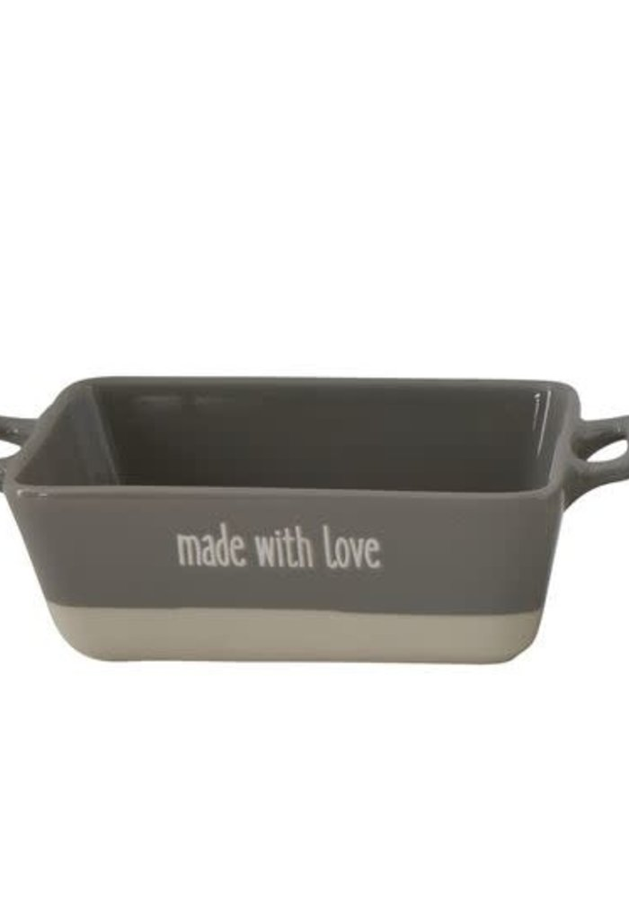 """Made With Love"" Stoneware Baker"
