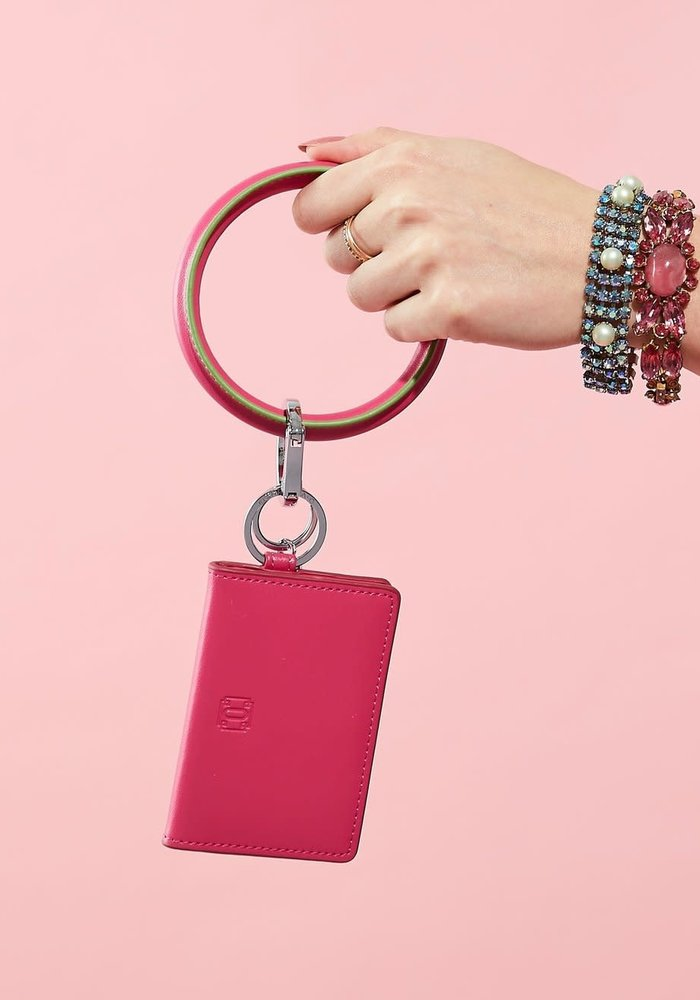 """""""Tickled Pink"""" Big Leather O Ring"""