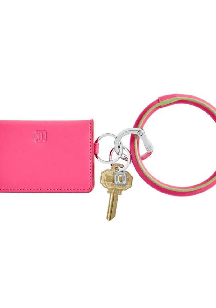 Tickled Pink Big O Leather Key Ring