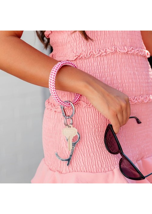 """Oventure """"Tickled Pink Riviera"""" Big Leather O Ring"""