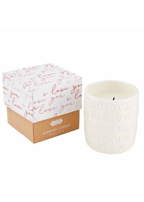 Mudpie XOXO Boxed Candle