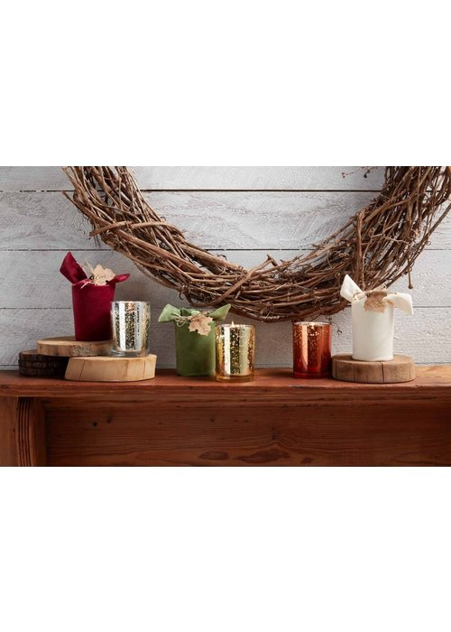 Mudpie Velvet-Wrapped Fall Sentiment Candle