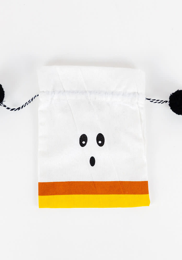 Candy Corn Ghost Candy Bag