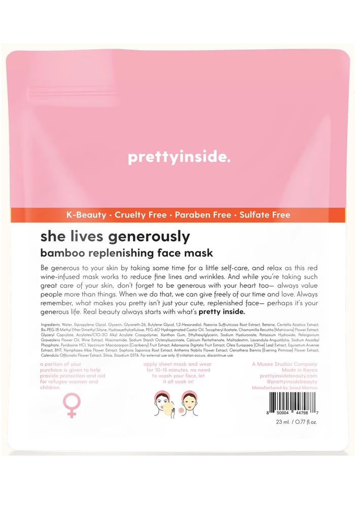 """""""She Lives Generously"""" Replenishing Face Mask"""