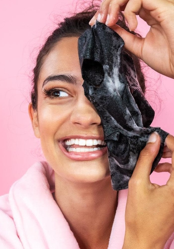 """""""She Travels Lightly"""" Charcoal Bubble Face Mask"""